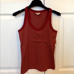 Jacob Red Cotton Tank Top size S